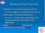 research significances