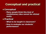 conceptual and practical1