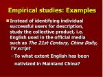 empirical studies examples1