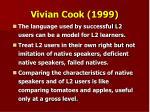 vivian cook 1999