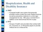 hospitalization health and disability insurance