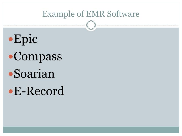 Example of EMR Software