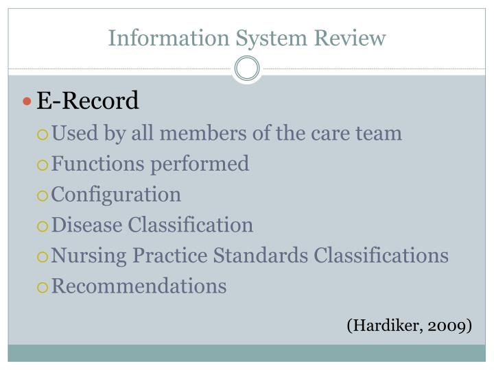 Information System Review