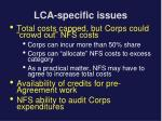 lca specific issues