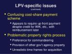 lpv specific issues continued2