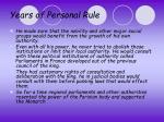 years of personal rule3