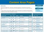 content area pages