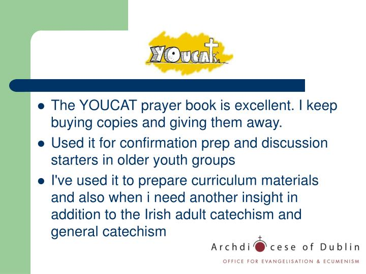 The YOUCAT prayer book is excellent. I keep buying copies and giving them away.