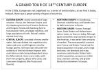 a grand tour of 18 th century europe