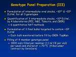genotype panel preparation iii