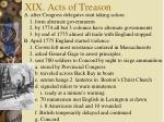 xix acts of treason