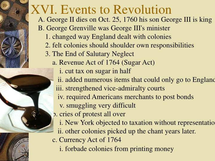 xvi events to revolution n.