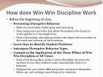 how does win win discipline work