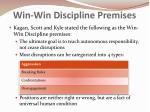 win win discipline premises