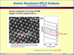 atomic resolution eels analysis s pennycook group ornl