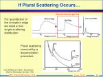 if plural scattering occurs