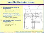 inner shell ionization losses