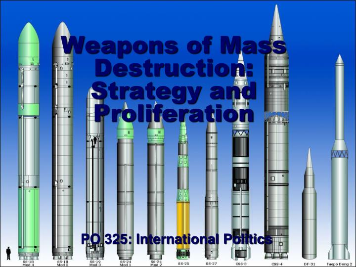 weapons of mass destruction strategy and proliferation n.