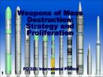 weapons of mass destruction strategy and proliferation