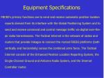 equipment specifications1