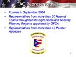 tac representatives