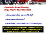 technical advisory commitee