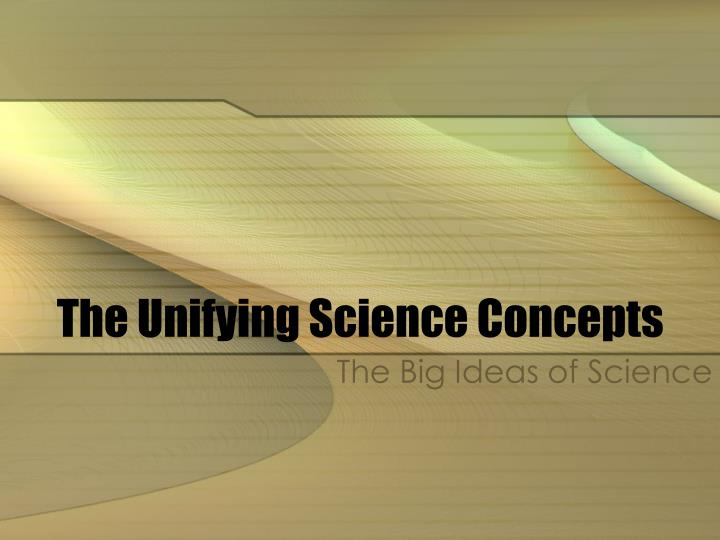 the unifying science concepts n.