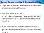gauge repeatability reproducibility
