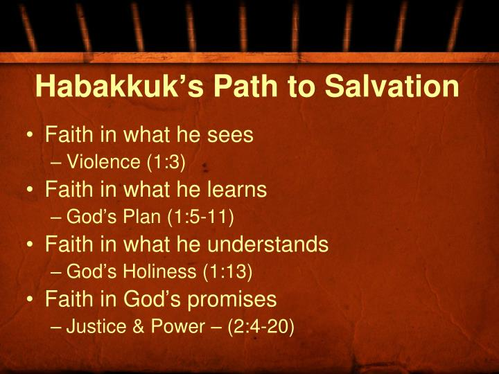 Habakkuk's Path to Salvation