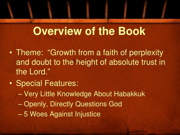 Overview of the book