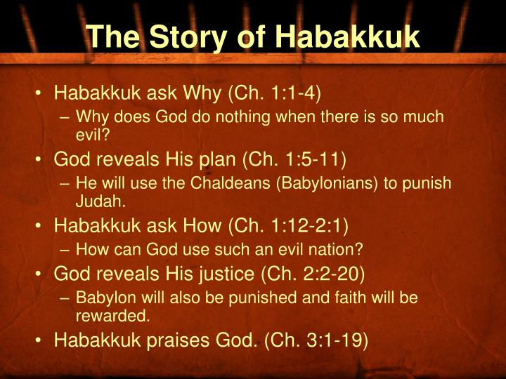 The story of habakkuk