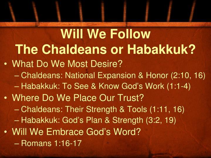 Will We Follow