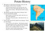 potato history