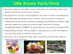 little known facts trivia