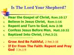 is the lord your shepherd
