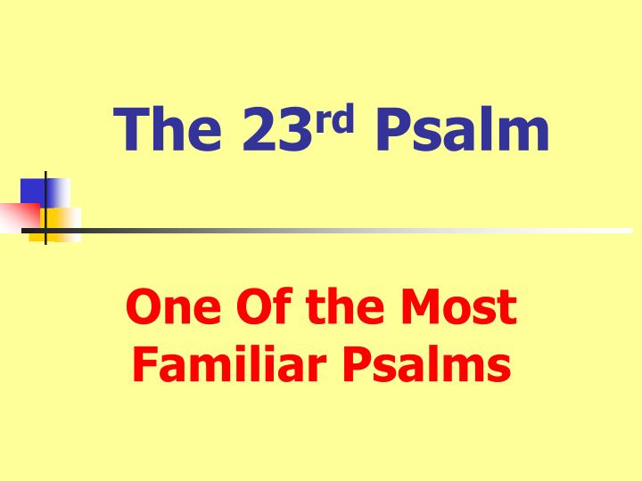 the 23 rd psalm n.