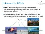 inference in wsns