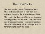 about the empire