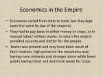 economics in the empire