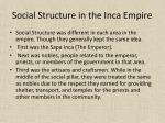 social structure in the inca empire