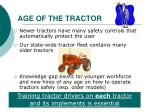 age of the tractor