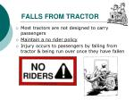 falls from tractor