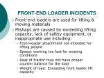 front end loader incidents