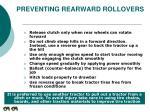 preventing rearward rollovers