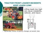 tractor front loader incidents