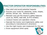 tractor operator responsibilities