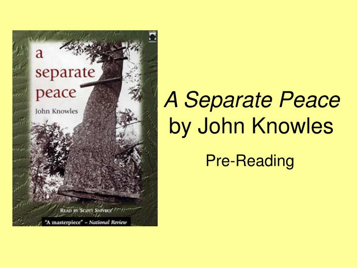a seperate peace by john knowles Up next a separate peace audiobook #5 john knowles - duration: 1:06:01 pepe sowlati 2,014 views 1:06:01.