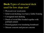 deck types of structural deck used for low slope roof