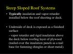 steep sloped roof systems