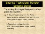 effective technology transfer success stories